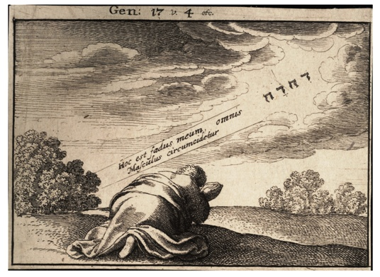 """God's covenant with Abraham"" by Wenceslaus Hollar (1607–1677)"